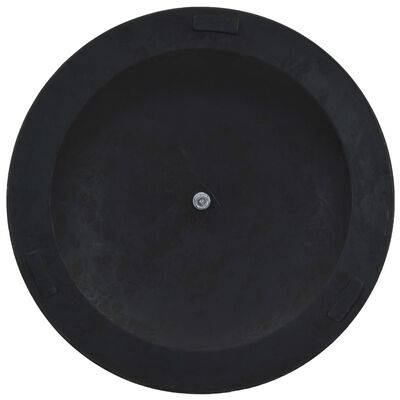 vidaXL Parasol Base Round Polyresin 41.9 lbs Bronze