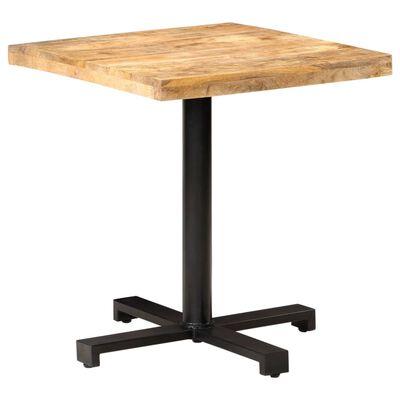 "vidaXL Bistro Table Square 27.5""x27.5""x29.5"" Rough Mango Wood"