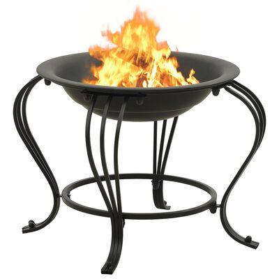 """vidaXL Fire Pit with Poker 19.3 Steel"""""""