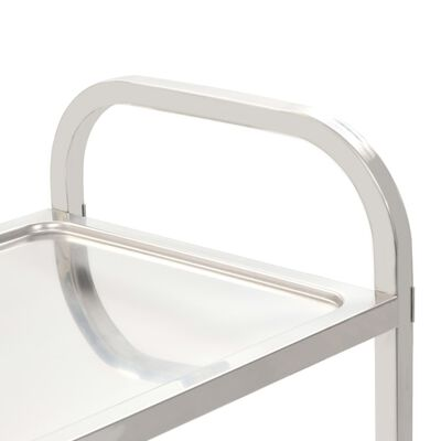 "vidaXL 5-Tier Kitchen Trolley 42.1""x21.7""x57.9"" Stainless Steel"