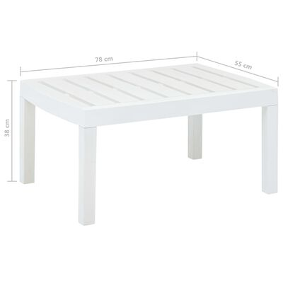 "vidaXL Lounge Table White 30.7""x21.7""x15"" Plastic"