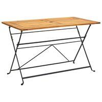 "vidaXL Folding Garden Table 47.2""x27.6""x29.1"" Solid Acacia Wood"
