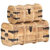 vidaXL Storage Chests 2 Pieces Solid Mango Wood