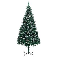 """vidaXL Artificial Christmas Tree with Pine Cones and White Snow 82.7"""""""