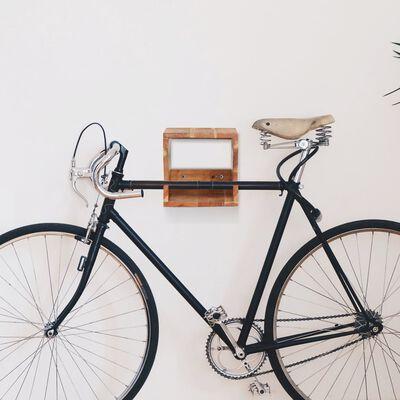 """vidaXL Wall Mounted Bicycle Rack 13.8""""x9.8""""x9.8"""" Solid Acacia Wood"""
