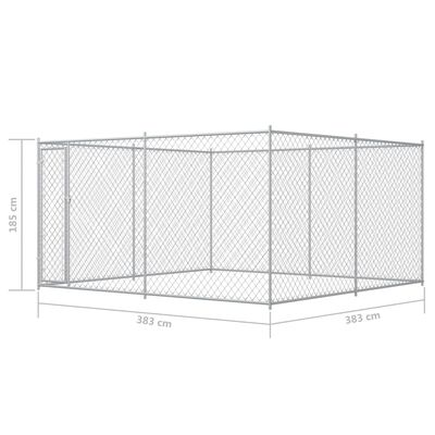vidaXL Outdoor Dog Kennel 13.1'x13.1'x6.6'
