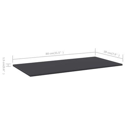 """vidaXL Bookshelf Boards 4 pcs Gray 31.5""""x7.9""""x0.6"""" Chipboard"""