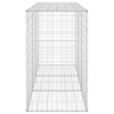 "vidaXL Gabion Wall with Covers Galvanized Steel 78.7""x23.6""x39.4"""