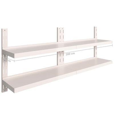 "vidaXL 2-Tier Floating Wall Shelves 2 pcs Stainless Steel 78.7""x11.8"""