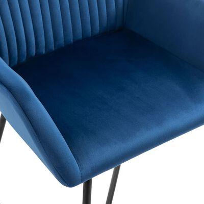 vidaXL Dining Chairs 6 pcs Blue Velvet