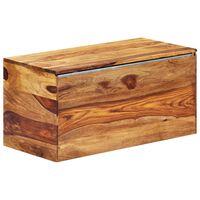 "vidaXL Storage Chest 31.5""x15.7""x15.7"" Solid Sheesham Wood"