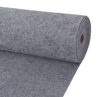 "vidaXL Exhibition Carpet Rib 78.7""x590.6"" Gray"