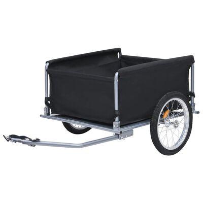 vidaXL Bike Cargo Trailer Black and Gray 143.3 lb