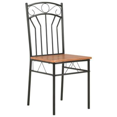 vidaXL Dining Chairs 6 pcs Brown MDF