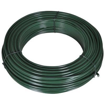"""vidaXL Fence Span Wire 262.5' 0.08""""/0.12"""" Steel Green"""