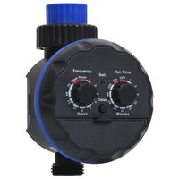 vidaXL Single Outlet Water Timer with Ball Valves
