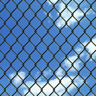 "vidaXL Chain Link Fence Steel 4' 9""x49' 2"" Green"
