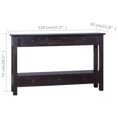 "vidaXL Console Table Light Black Coffee 47.2""x11.8""x29.5"" Solid Mahogany Wood"