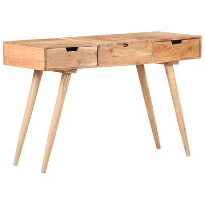 "vidaXL Dressing Table with Mirror 44.1""x17.7""x30"" Solid Acacia Wood"
