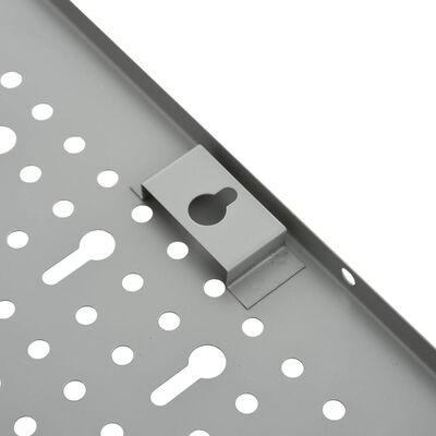 "vidaXL Wall-mounted Peg Boards 4 pcs 15.7""x22.8"" Steel"