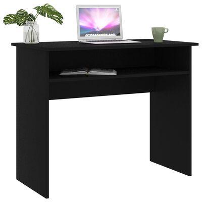 """vidaXL Desk Black 35.4""""x19.6""""x29.1""""Chipboard"""