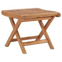 """vidaXL Folding Footrest 18.3""""x19.3""""x16.3"""" Solid Teak Wood"""