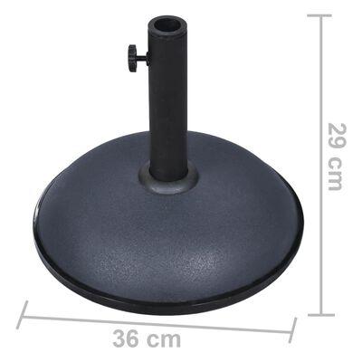 vidaXL Parasol Base 24.3 lbs Dark Gray Steel and Cement