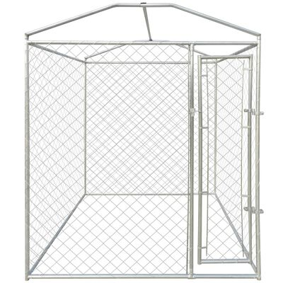 vidaXL Outdoor Dog Kennel with Canopy Top 6'x6'x7.9'