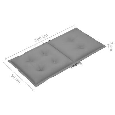 "vidaXL Garden Chair Cushions 6 pcs Gray 39.4""x19.7""x2.8"""