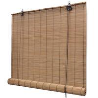 """vidaXL Roller Blind Bamboo 59.1""""x63"""" Brown"""