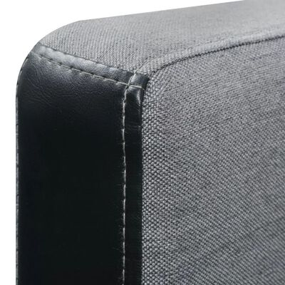 vidaXL L-shaped Sofa Bed Fabric Black and Gray