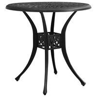 "vidaXL Garden Table Black 30.7""x30.7""x28.3"" Cast Aluminum"