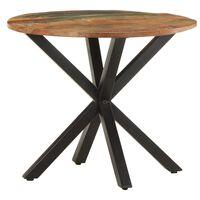 "vidaXL Side Table 26.8""x26.8""x22"" Solid Reclaimed Wood"