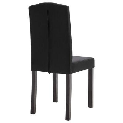 vidaXL Dining Chairs 2 pcs Black Fabric