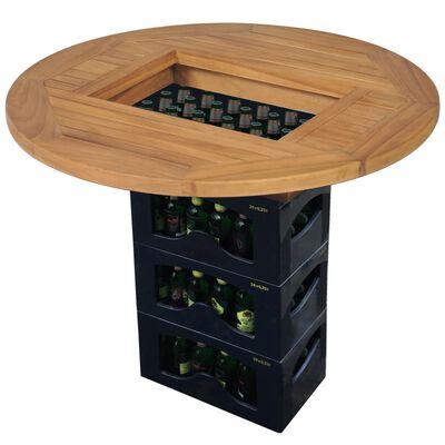 """vidaXL Beer Crate Tabletop Teak 27.6"""""""