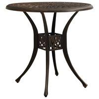 "vidaXL Garden Table Bronze 30.7""x30.7""x28.3"" Cast Aluminum"