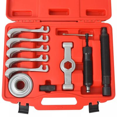 vidaXL 11 Piece Two-Way Hydraulic Gear Puller Set Steel