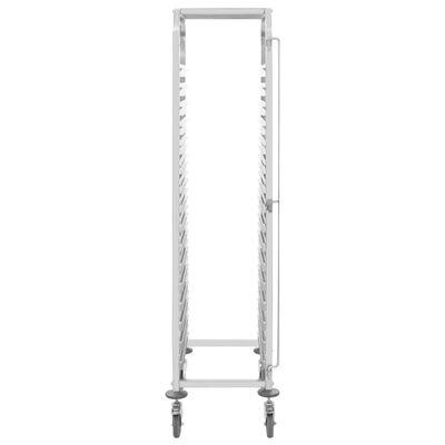 "vidaXL Kitchen Trolley for 16 Trays 15""x21.7""x64.2"" Stainless Steel"