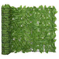 "vidaXL Balcony Screen with Green Leaves 118.1""x39.4"""