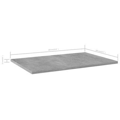 "vidaXL Bookshelf Boards 8 pcs Concrete Gray 23.6""x15.7""x0.6"" Chipboard"