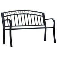 """vidaXL Garden Bench 49.2"""" Black Steel"""