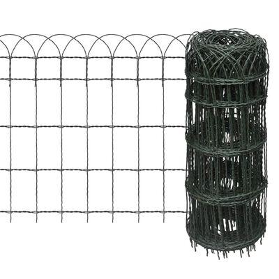 "vidaXL Garden Border Fence Powder-coated Iron 984.3""x25.6"""