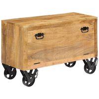 "vidaXL Shoe Cabinet 33.9""x13.8""x21.7"" Solid Mango Wood"