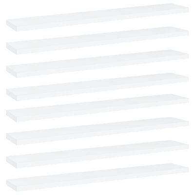 "vidaXL Bookshelf Boards 8 pcs White 23.6""x3.9""x0.6"" Chipboard"