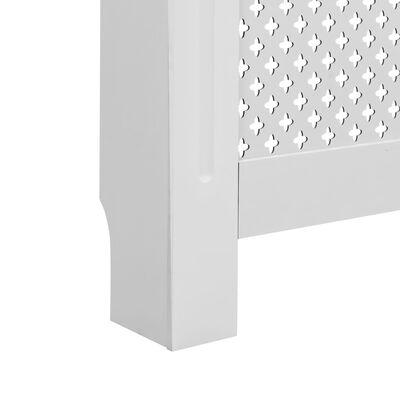 "vidaXL Radiator Covers 2 pcs White 44.1""x7.5""x32.1"" MDF"