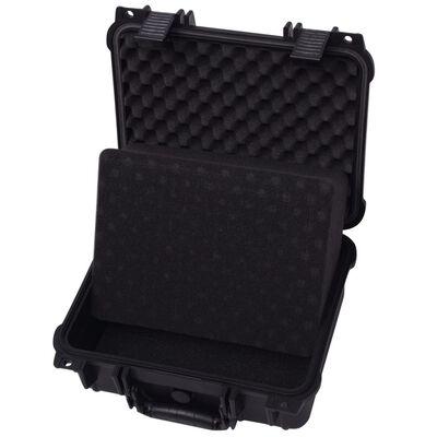 "vidaXL Protective Equipment Case 13.8""x11.6""x5.9"" Black"