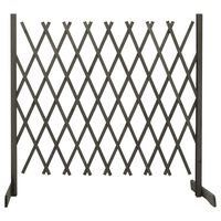 "vidaXL Garden Trellis Fence Gray 70.9""x39.4"" Solid Firwood"