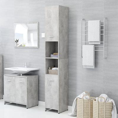 "vidaXL Bathroom Cabinet Concrete Gray 11.8""x11.8""x72.2"" Chipboard"