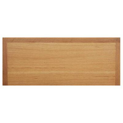 """vidaXL Shoe Rack 35.4""""x14.6""""x17.7"""" Solid Oak Wood"""