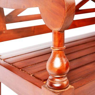 "vidaXL Batavia Bench 38.6"" Solid Mahogany Wood Dark Brown"